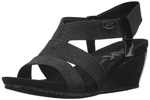 Anne Klein AK Sport Women's Cabrini Wedge Sandal, Black Fabric, 7.5 M US Ak Anne Klein Heels