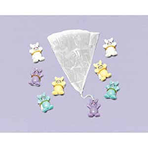 "Egg-stra Special Mini Easter Bunny Paratrooper Favours, Plastic, 1"" x 1"", Pack of 8"