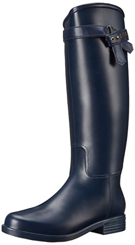 Nine West Women's Corrado Synthetic Rain Boot, Navy/Navy, 6 M US (West Nine Boots Rubber)