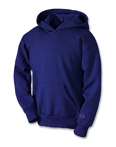 Champion Boys Big Powerblend Eco Fleece Pullover Hoodie, Black, M
