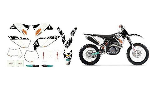 NEW KTM RACING GRAPHICS KIT WHITE SX XC XC-W EXC 2008-2011 77308190700