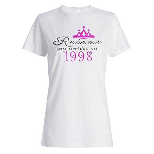 Reinas son nacidas en 1998 camiseta de las mujeres qq11f