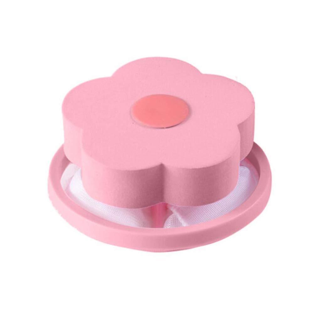 Alapaste Washing Machine Filter Bag Mesh Bag Hair Filter Net Reusable Floating Lint Mesh Bag 3pcs Blue 3pcs Pink