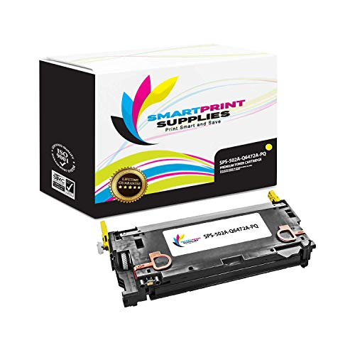 Smart Print Supplies Compatible 502A Q6472A Yellow Premium Toner Cartridge Replacement for HP Laserjet 3600 3800 CP3505 Printers (4,000 -