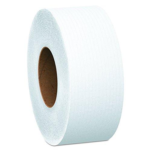 Scott White 2 Ply (Scott Jumbo Roll (JR) Commercial Toilet Paper (07827), 2-PLY, White, 6 Rolls / Case, 2,000' / Roll)