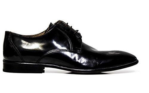 Chaussures habillées Exton hommes dentelle 9612 abrasivato BLACK