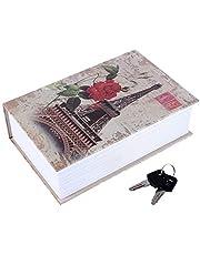 Book Safe Box, Portable Hidden Security Book Storage Case with Key Lock Travel Home Jewelry Passport Money Cash Secret Security Lock Box 18 x 11.5 x 5.5cm / 7.09 x 4.53 x 2.17inch