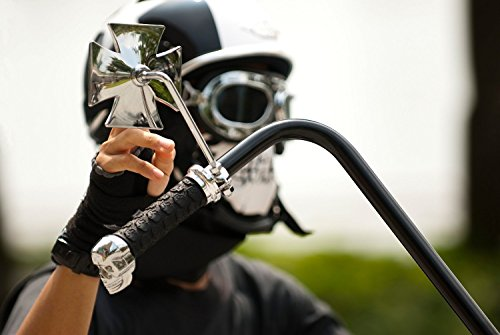 Motorcycle-Face-Masks-2-Pieces-Xpassion-Skull-Mask-Half-Face-for-Out-Riding-Motorcycle-Black