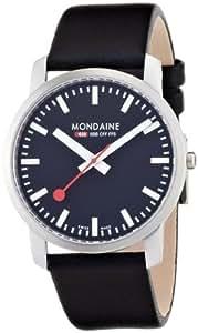 Mondaine Men's A672.30350.14SBB Simply Elegant Leather Band Watch