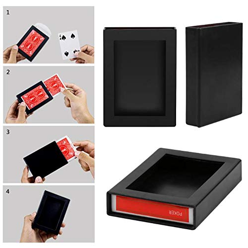 - ButterThao93 Magic Tricks Magic Poker Disappearing Box Close Up Magic Trick Fun Poker Vanishing Case Amazing Playing Card Kids Novelty Toys Gift