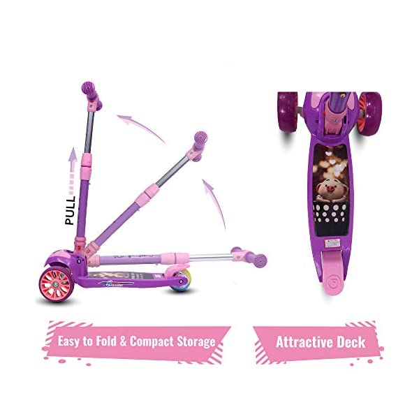 Little-Olive-Munchkin-Scooter-for-Kids-of-24-Months-5-Years-3-Adjustable-Height-Foldable-LED-PU-Wheels-Kids-Scooter-with-Brakes-Purple