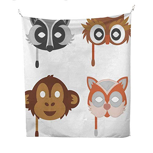 25 Home Decor Tapestries for Bedroom Cartoon Animal