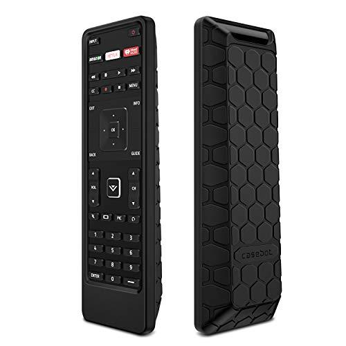 Fintie Remote Case for Vizio XRT122 Smart TV Remote, Casebot (Honey Comb) Lightweight Anti-Slip Shockproof Silicone Cover for Vizio XRT122 LCD LED TV Remote Controller, Black ()