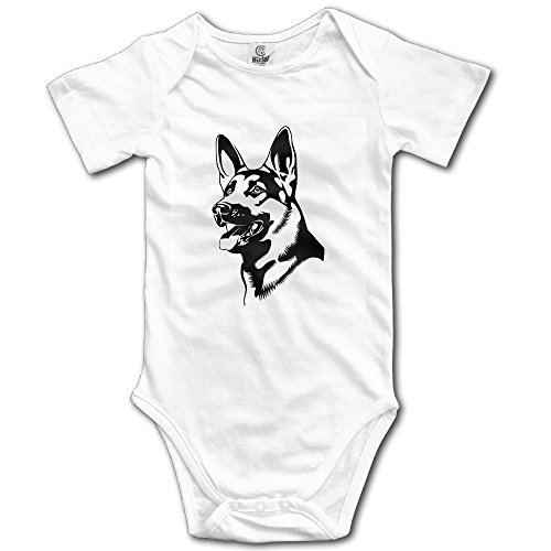 Rainbowhug Cool German Shepherd Dog Unisex Baby Onesie Lovely Newborn Clothes Concise Baby Outfits Comfortable Baby -