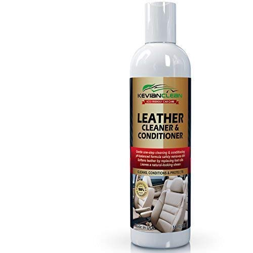 KevianClean Leather Cleaner and Conditioner - Auto Interior Upholstery, Car Seats, Dashboard, Furniture, Handbags & More, Natural, Eco-Friendly, pH Safe, Organic Formula 16 oz