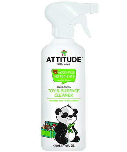 ATTITUDE Natural Care, Hypoallergenic Toy and Surface Cleaner, Fragrance Free, 16 Fluid Ounce