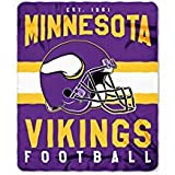 Minnesota Vikings Blanket. This soft fleece throw blanket will keep you warm at the game or ar home.