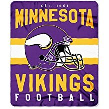 Minnesota Vikings Blanket. This soft fleece throw blanket will keep you warm at the game or ar (Soft Fleece Material)