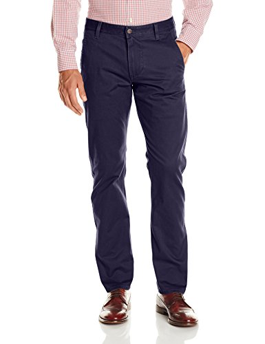 Dockers Men's Alpha Khaki Stretch Slim Tapered Fit Flat Front Pant, Pembroke (Stretch), 34W x 29L