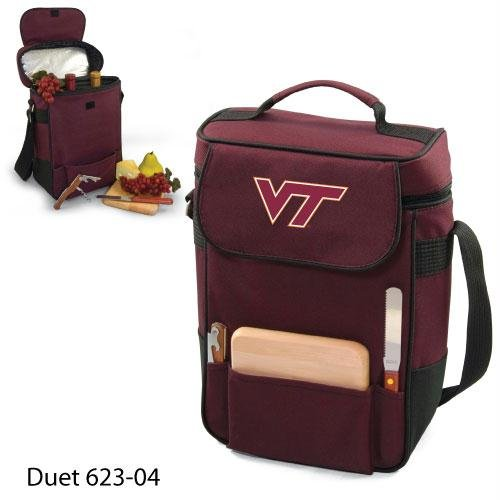 Burgundy 600 Denier Polyester - Virginia Tech Printed Duet Tote Burgundy