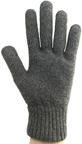 PossumDown Lightweight Brushtail Possum Merino Wool Blend Gloves (Large, Riverstone)