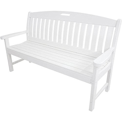 Hanover Outdoor Furniture HVNB60WH Avalon All Weather Porch Bench, 60