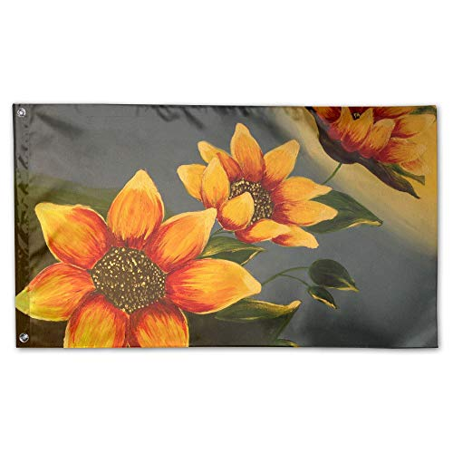 Decorative House Flags - Oil Painting Sunflower Outdoor Seas