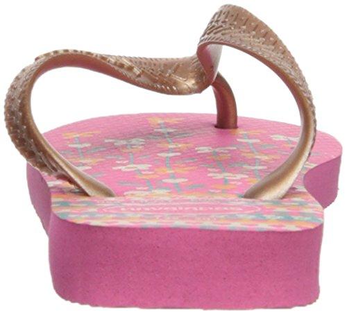 Havaianas Kids Flores Sandal, Shocking Pink/Rose Gold 23/24 BR/Toddler (9 M US) - Image 2