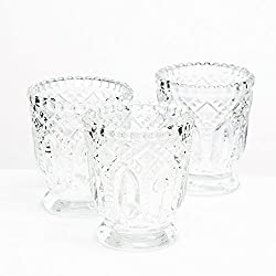 Richland Votive Holder Clear Textured Glass with B