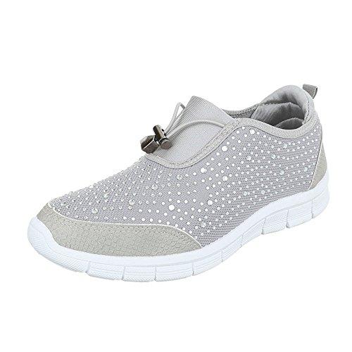 Ital-Design - Zapatillas de casa Mujer gris