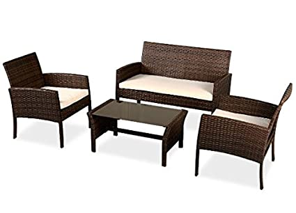 Prime Amazon Com Ka Company Wicker Rattan Patio Sofa Furniture Gmtry Best Dining Table And Chair Ideas Images Gmtryco
