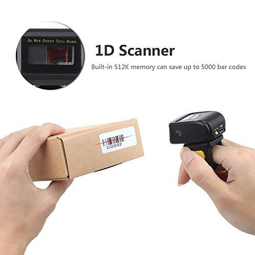 Eyoyo Portable Wearable Ring Barcode Scanner 1D Reader Mini