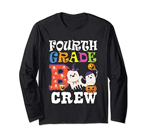 (Halloween Fourth 4th Grade Boo Crew Teacher Long Sleeve)