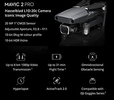 DJI Mavic 2 Pro (Hasselblad Camera) Fly More Combo Deluxe Bundle, 3 Batteries, Charging Hub, and Extreme microSDXC Card