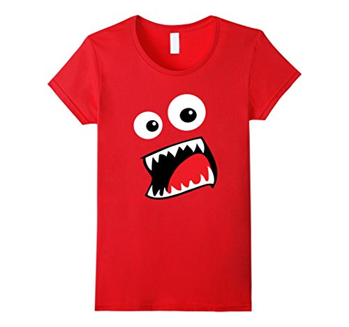Womens Monster Halloween Costume Shirt Funny Matching Couple Group Medium Red