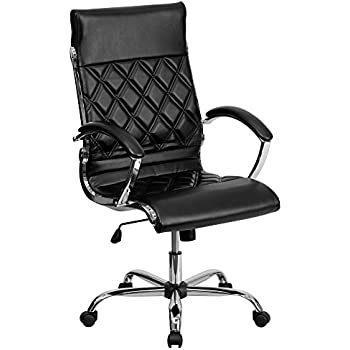 Amazoncom Flash Furniture High Back Transitional Style Black