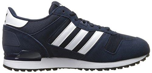 Adidas Originals Zx 700 Ejecución de la zapatilla de deporte estilo de vida, negro / gris sólido l Collegiate Navy/White/Black