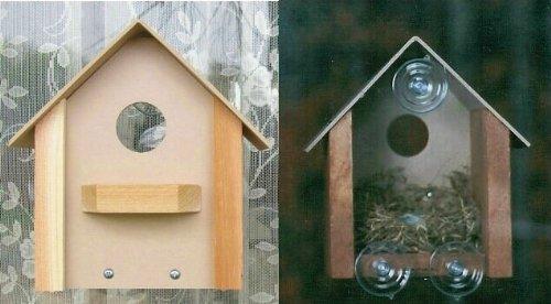 - Songbird Essentials SE564 Window Birdhouse (Set of 1)