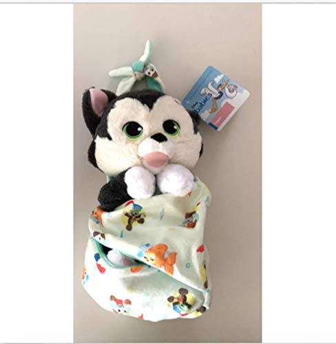 Disney Parks Cat Kitten Baby Figaro in a Pouch Blanket Plush Doll