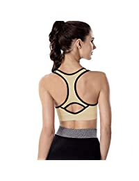 4 Pack Women Racerback Sports Bras High Impact Workout Yoga Gym Activewear Fitness Bra
