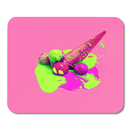 Nakamela Mouse Pads Colorful Crazy Pink Acid Glamorous Ice Cream Explosion Summer Colors Blue Chocolate Green Chic Mouse mats 9.5
