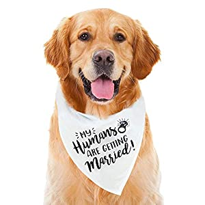 My Humans are Getting Married Dog Bandana, Wedding Dog Bandana, Dog Engagement Announcement, Wedding Photo Prop, Pet Scarf, PetPhoto Prop, Pet Scarf, Pet