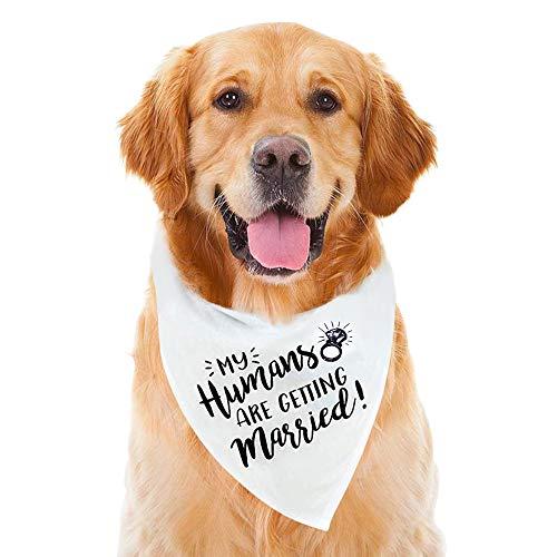 Dog Bandana, Wedding Dog Bandana, Dog Engagement Announcement, Wedding Photo Prop, Pet Scarf, Pet Accessories (My Humans are Getting Married Dog Bandana)