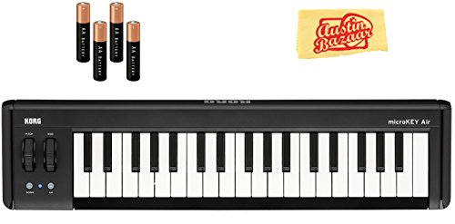 Korg microKEY Air 37-Key Wireless MIDI Controller Bundle with AA Batteries and Austin Bazaar Polishing Cloth