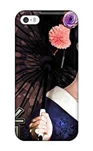 1645696K69831335 New Design Shatterproof Case For Iphone 5/5s (geisha Girl With Umbrella)
