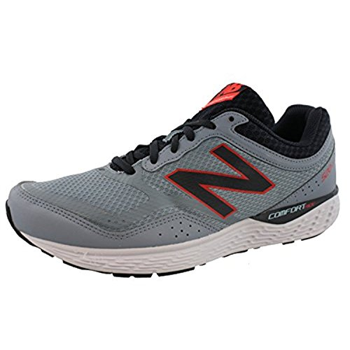 New Balance Mens 520LC2 Comfort Ride Running Sneaker (12.5 D(M) US, Light Grey/Coral/Black)