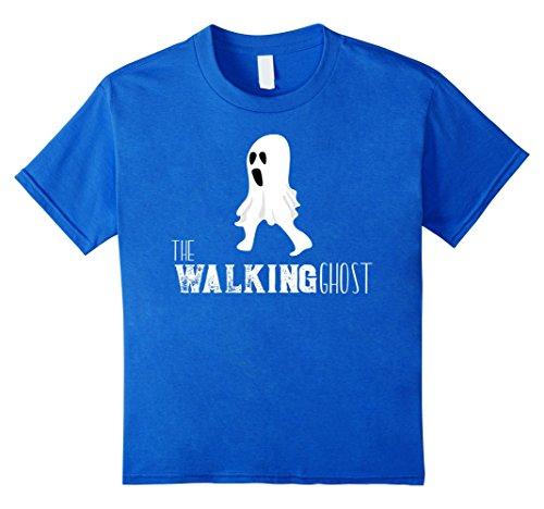 Kids Walking Ghost Hilarious Weird Halloween Costume T-Shirt 12 Royal (Outlandish Costumes)