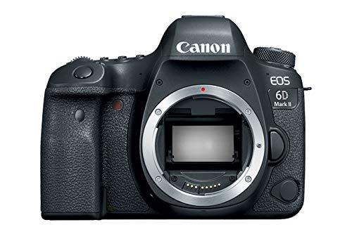 """Canon EOS 6D MK II – Cámara digital réflex de 26.2 MP (pantalla táctil de 3.0"""", Wifi, Bluetooth, Dual Pixel CMOS AF, vídeos time-lapse en 4K) negro – kit cuerpo con objetivo EF 24-105 IS STM"""
