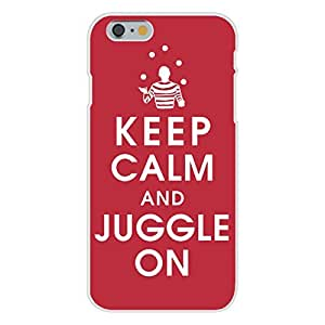 Apple iphone 5c Custom Case White Plastic Snap On - Keep Calm and Juggle On w/ Performer