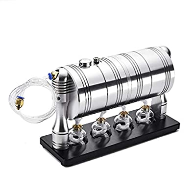 Yamix Steam Engine Model Steam Generator Engine Motor Heating Boiler STEM Science Toy: Toys & Games